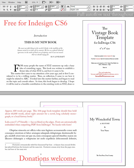 free 6 x 9 book template for adobe indesign news from jurn org