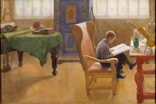 Carl Larsson: Studiehoörnet. Esbjorn. NMB 2098